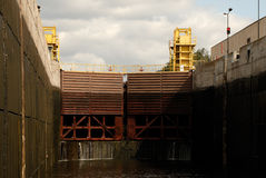 Shipping Lock Chamber Gates Stock Photography