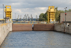 Shipping Lock Chamber On-water Gates Royalty Free Stock Images
