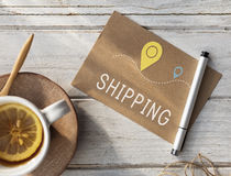 Shipping Logistic Delivery Freight Cargo Concept Royalty Free Stock Image
