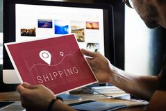 Shipping Logistic Delivery Freight Cargo Concept Stock Images