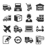 Shipping, Logistic and Delivery Icons Set. Vector Stock Photo