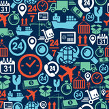 Shipping logistic mobile seamless pattern icons se Stock Images