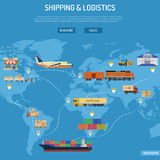 Shipping and Logistics Concept Royalty Free Stock Photos