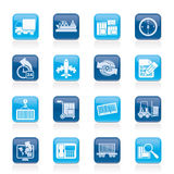 Shipping and logistics icons Royalty Free Stock Photos