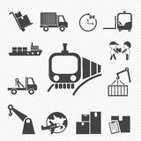 Shipping and Logistics Icons Royalty Free Stock Photo