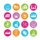 Shipping and logistics icons Royalty Free Stock Photography
