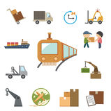 Shipping and Logistics icons set Royalty Free Stock Photography