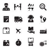 Shipping & Logistics icons set Stock Image