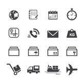 Shipping and Logistics Icons Royalty Free Stock Image