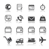 Shipping and Logistics Icons Royalty Free Stock Images