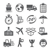 Shipping and Logistics Icons Stock Photo