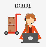 Shipping logistics of merchandise design. Illustration eps10 graphic Royalty Free Stock Images