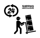 Shipping logistics of merchandise design. Illustration eps10 graphic Stock Images