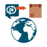 Shipping logistics of merchandise design. Illustration eps10 graphic Stock Image