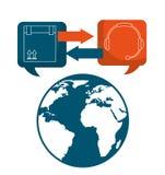 Shipping logistics of merchandise design. Illustration eps10 graphic Stock Photography