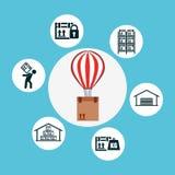 Shipping logistics of merchandise design. Illustration eps10 graphic Royalty Free Stock Photos