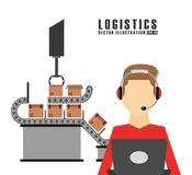 Shipping logistics of merchandise design. Illustration eps10 graphic Royalty Free Stock Photo