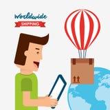 Shipping logistics of merchandise design. Illustration eps10 graphic Royalty Free Stock Image