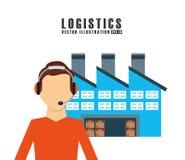 Shipping logistics of merchandise design. Illustration eps10 graphic Stock Photo