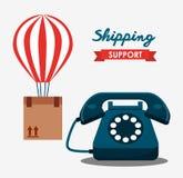 Shipping logistics of merchandise design. Illustration eps10 graphic Stock Photos