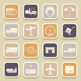Shipping, logistics universal icons Stock Image