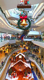 Shopping mall christmas decoration Royalty Free Stock Photo