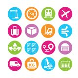 Shipping management icons Stock Photos