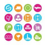 Shipping management icons Royalty Free Stock Photo