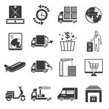 Shipping management icons Stock Photography