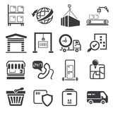 Shipping management icons set Stock Photography