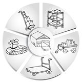 Shipping Manufacturing Chart Stock Images
