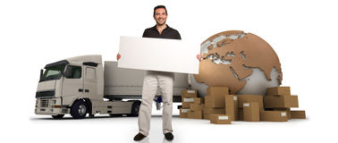 Shipping message Royalty Free Stock Image