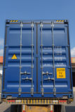 Shipping metal container. Royalty Free Stock Images