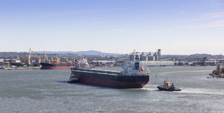 Shipping - Newcastle Harbour Australia Royalty Free Stock Photography