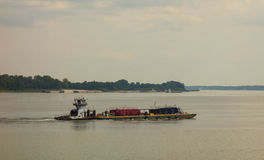 Shipping on the ohio river in the summertime Royalty Free Stock Photography