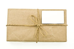 Shipping package sent through the mail Stock Images