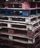 Shipping Pallets One blue and Red Royalty Free Stock Photo