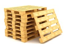 Shipping pallets. On white background Royalty Free Stock Images