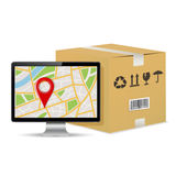 Shipping parcel tracking order design Stock Image