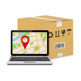 Shipping parcel tracking order design Royalty Free Stock Images