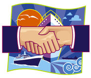 Shipping partnership Stock Image