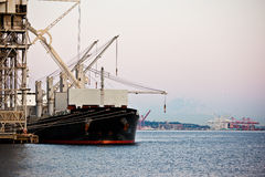 Shipping port Stock Image