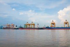 Shipping port Stock Photo