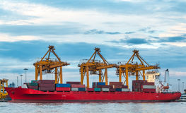 Shipping port Royalty Free Stock Images