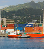 A shipping port in the caribbean Stock Image