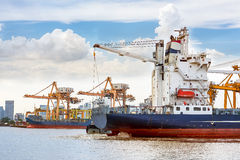 Shipping port Stock Images