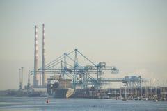 Shipping port. In Dublin city royalty free stock photos