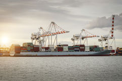 Shipping port, Shipping Industry Stock Photo