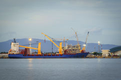 Shipping port, Shipping Industry. Maritime transport and logistics, The cargo ship Stock Photo
