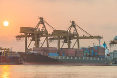Shipping port in Thailand. Royalty Free Stock Photos